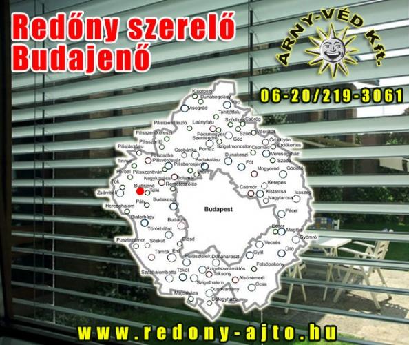 Redőnyök szerelése, készítése kizárólag minőségi alapanyagokból Budajenőn.