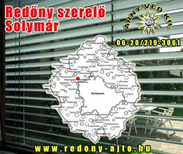 Redőnyök készítése, szerelése kizárólag csak minőségi anyagokból Solymáron.
