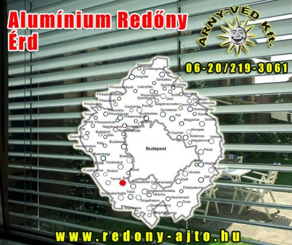 Alumínium redőnyök szerelése, készítése kizárólag csak magas minőségű alapanyagokból Érden.