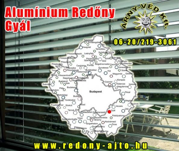 Alumínium redőnyök szerelése, készítése kizárólag minőségi alapanyagokból Gyálon.