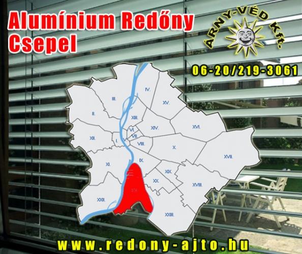Alumínium redőnyök szerelése, készítése kizárólag csak minőségi alapanyagokból Csepelen.