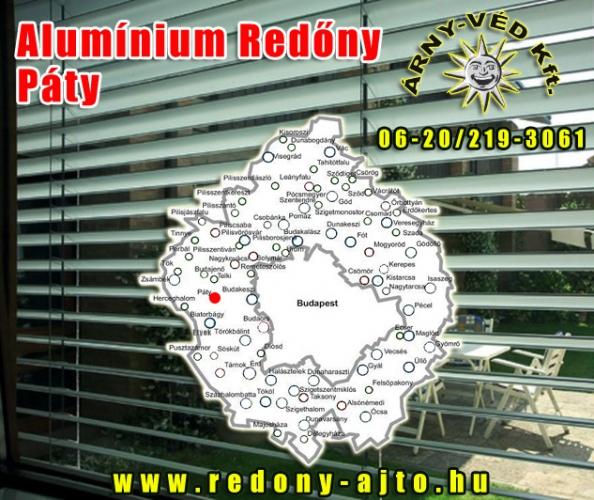 Alumínium redőnyök szerelése, készítése kizárólag minőségi alapanyagokból Pátyon.